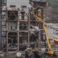 Kitimat Aluminum Smelter Demolition 07