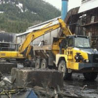 Kitimat Aluminum Smelter Demolition 09