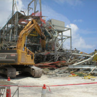Johnston Atoll Chemical Weapons Incinerator Demolition 06