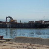 Debris Barge Headed Across Bay