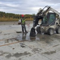 Removing Oil Stained Concrete 9-4-19