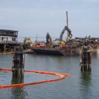 Todays Barge Load Sitting on Bottom